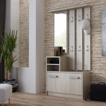 ambre vestiaire d entr e effet ch ne achat prix fnac. Black Bedroom Furniture Sets. Home Design Ideas