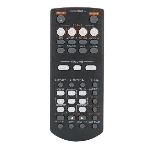 Télécommande de contrôleur vidéo DVD durable ABS pour Yamaha RAV28 Noir