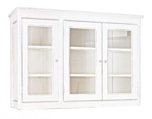 Meuble haut vaisselier avec 3 portes - Dim : L 145 x P 40 x H 105 cm -PEGANE-