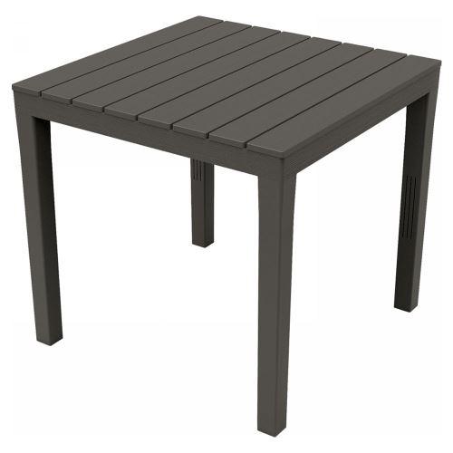Table en résine 80 x 80 x h72 cm couleur anthracite TBL028AN