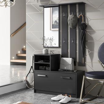 vestiaire d entr e ambre noir achat prix fnac. Black Bedroom Furniture Sets. Home Design Ideas