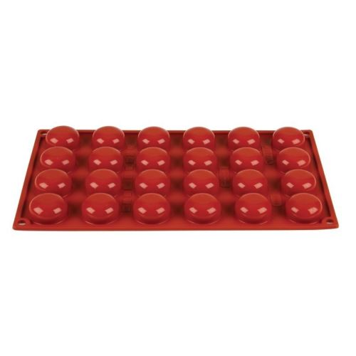 Moule à 24 pomponnettes en silicone pavoni