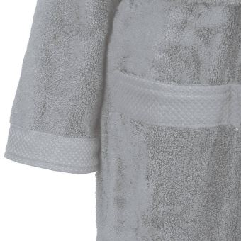aac53dda8f94 Peignoir de bain col châle 450gr m² Sensoft Gris Perle 3 - L - Achat   prix