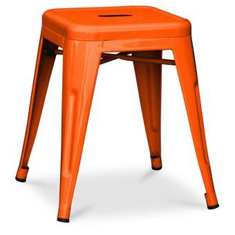 Tabouret Tolix Xavier Pauchard Orange Achat Prix Fnac