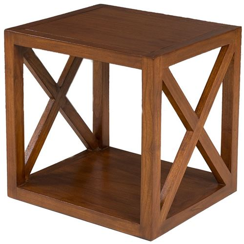 Etagère bois 40 cm 1 case croisillon