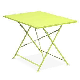 Table de jardin bistrot pliable - Emilia rectangle verte ...