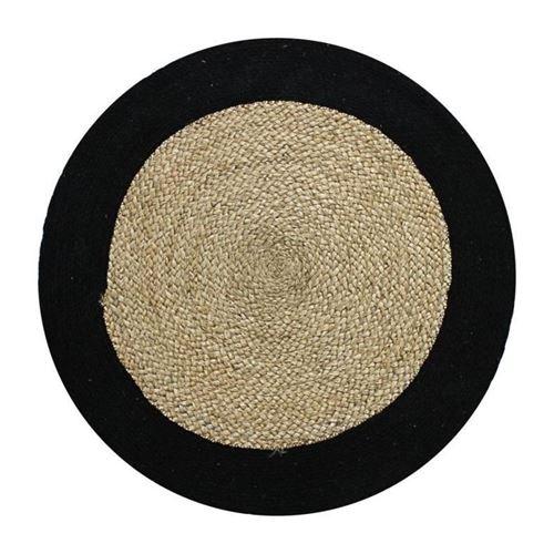 tapis funny - ø 70 cm - bande noire