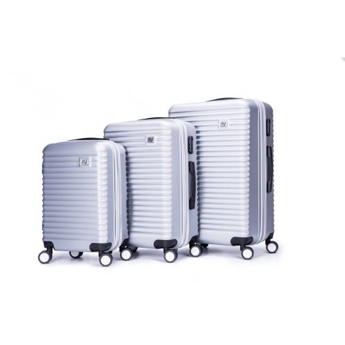 Set De 3 Valises Abs Trolleys Air V Abuhu Argent