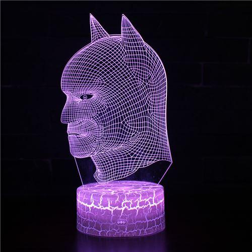 Lampe 3D Tactile Veilleuses Enfant 7 Couleurs avec Telecommande - Batman #292