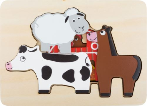 Small Foot puzzle ferme 3 couches 20 x 14 cm