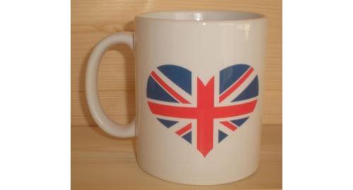 Mug blanc - Coeur Union Jack