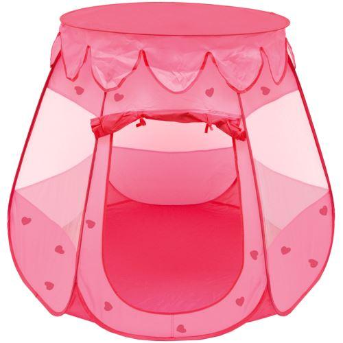 LittleTom Tente de jardin à boules 120x120x90cm jouet pour petites filles Rose