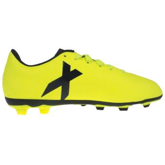 Chaussures football moulées Adidas X 17.4 junior fxg Jaune