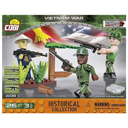 Cobi kit de construction Vietnam War 3 Soldats garçons 26-pièce