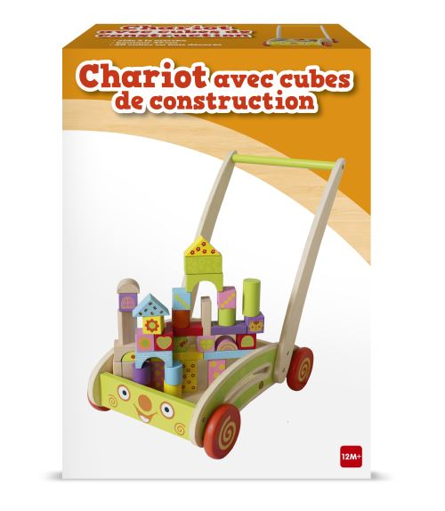 Chariot cube bois