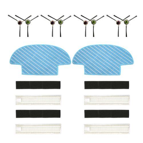 Filtre De Groupe , Paire Side Brush , Vadrouille Pour Balayeuses Ecovacs Slim 2 Blanc W132