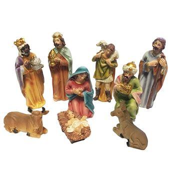 9 Figurines de Crèche de Noël   Nativité   Santons de Noël
