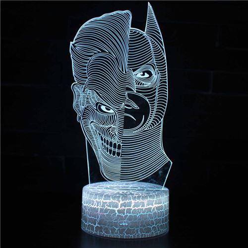 Lampe 3D Tactile Veilleuses Enfant 7 Couleurs avec Telecommande - Batman #295