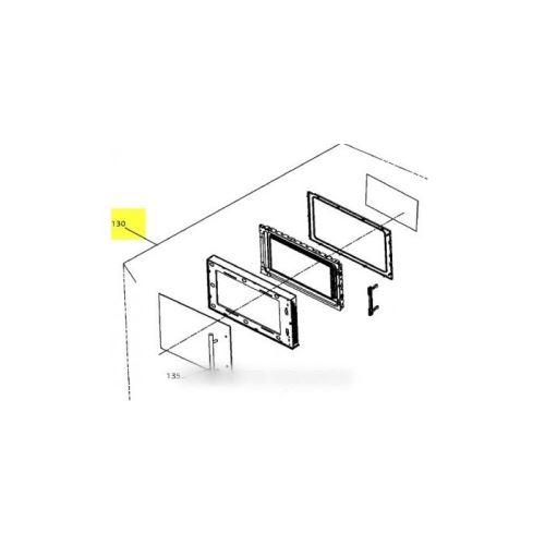 Porte complete pour micro ondes brandt