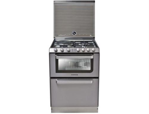 Rosières TRM60IN/NG - Cuisinière - pose libre - largeur : 60 cm - inox avec lave-vaisselle