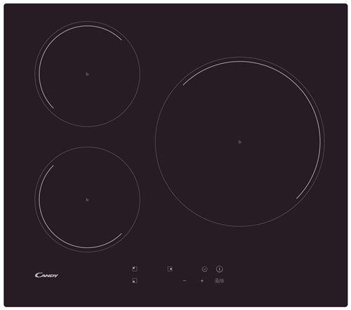 Candy CI633C - Table de cuisson à induction - 3 plaques de cuisson - noir