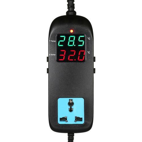 Gecheer Thermostat électronique Contrôleur de température à affichage numérique à LED avec prise température 40 120