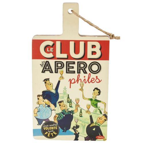 Planche de coupe en bois Club des Apérophiles