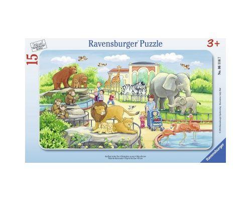 Puzzle cadre 15 pièces Ravensburger Excursion au Zoo