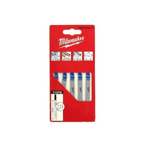 Pack de 5 lames scie sauteuse MILWAUKEE métal 75 mm denture de 3 mm 4932274315