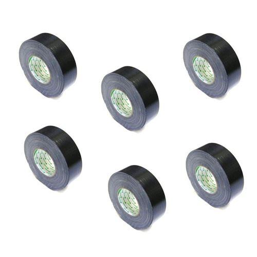 Nichiban Gaffa Tape 1200 ruban adhésif 50mm, 50m noir (6 rouleaux)