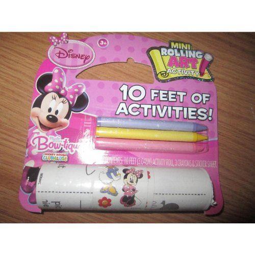 Activité Mini-Rolling Art de Disney Minnie Mouse Bow-tique, 10 pieds d'âge, 3 ans et plus