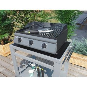 grill garden plancha gaz avec plaque fonte amovible 3 feux pg016 cd achat prix fnac. Black Bedroom Furniture Sets. Home Design Ideas