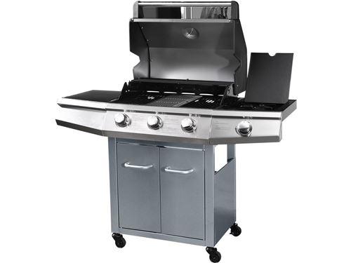 Barbecue Gaz Bingo 4 4 brûleurs dont 1 latéral 14kW +