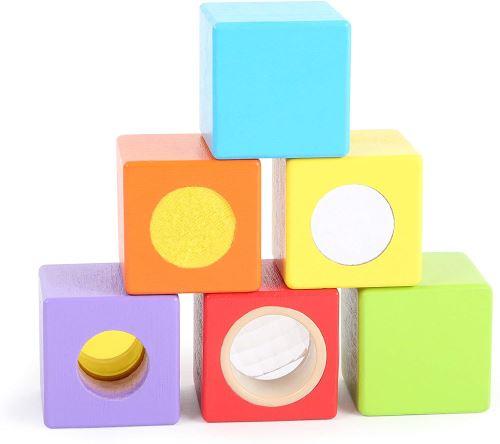 Small Foot- Cubes en Bois-Petits Explorateurs, 10636