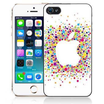 Coque pour iPhone 5/5S logo apple multicolore