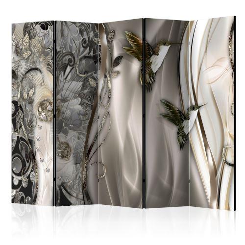 Paravent 5 volets - Source Crystals II [Room Dividers] - Décoration, image, art | 225x172 cm | XL - Grand Format |