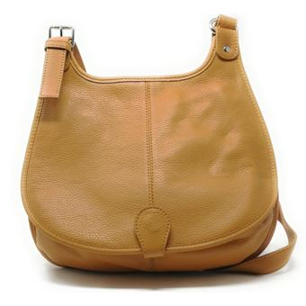fade70b7af Sac à main besace cuir Petra (grand) marron fonce - Maroquinerie Business -  Achat & prix   fnac