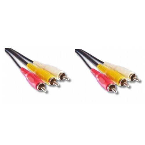lineaire vr62d câble 3 x rca mâle / mâle
