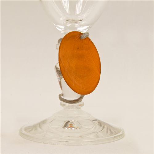 Lot de 6 Disques aspect coquillage coloris Orange - Diam : 4 cm
