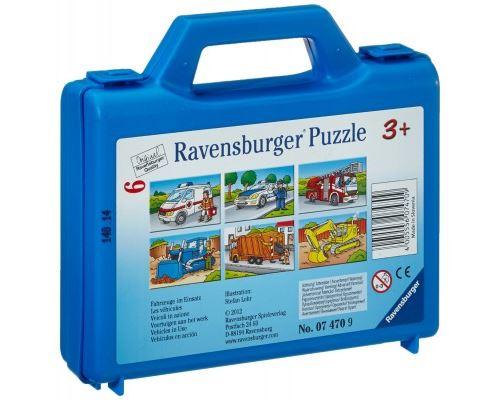 Ravensburger - Puzzle cubes - 6 cubes : Les véhicules