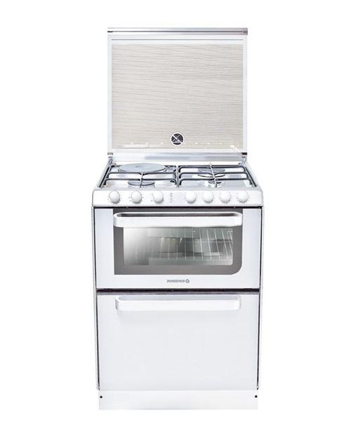 Rosières TRM60RB/NG - Cuisinière - pose libre - blanc avec lave-vaisselle