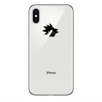 Coque Silicone IPHONE X Sangoku Transparente Fun APPLE Tete Dragon Ball Z Pomme Manga Protection Gel Souple