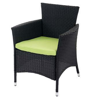 Lot de 2 chaises de jardin polyrotin ROM Basic, fauteuil en osier ...