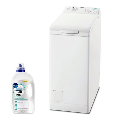 lave-linge top faure 1109098 60 blanc option rapide : réduit de 50% la durée de chaque cycle.
