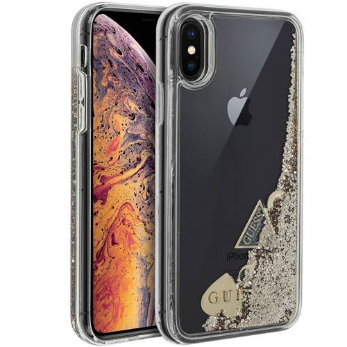 coque iphone xs max paillette liquide violet