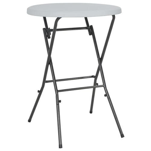 vidaXL Table de bar pliante Blanc 80 x 110 cm PEHD