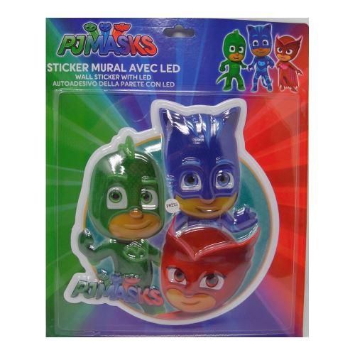 Lampe Veilleuse PJ Masks LED Disney enfant Stickers
