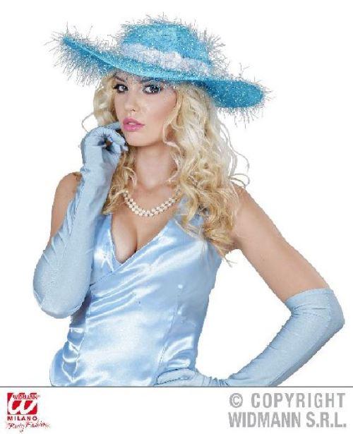 Chapeau bleu femme glamour