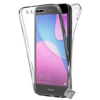Housse etui coque silicone gel 360 integrale pour Huawei Y6 Pro (2017) avec verre trempe - TRANSPARENT