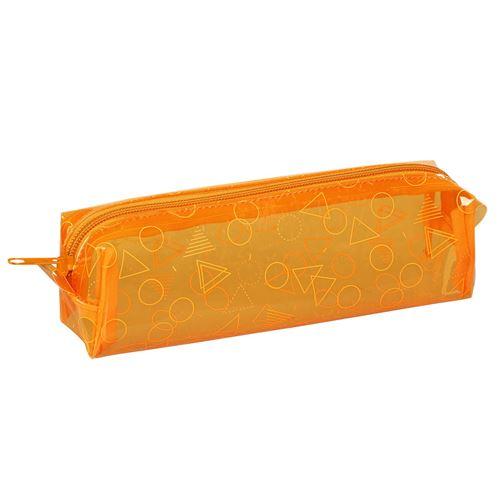 Viquel Trousse scolaire transparente rectangulaire FLUO COLOURS Orange